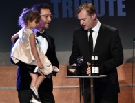 Matthew McConaughey, sa fille et Christopher Nolan au gala de l'American Cinematheque 2014