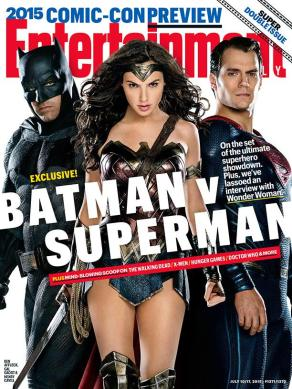 Couverture du #1371/1372 d'Entertainment Weekly avec Batman, Wonder Woman et Superman