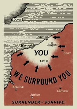Carte de Dunkerque affichée sur le site officiel