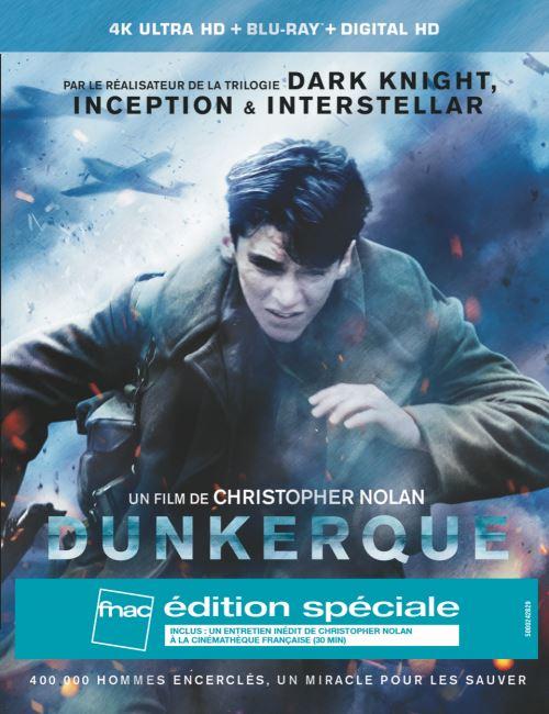 Dunkerque édition spéciale fnac Steelbook 4K Ultra HD
