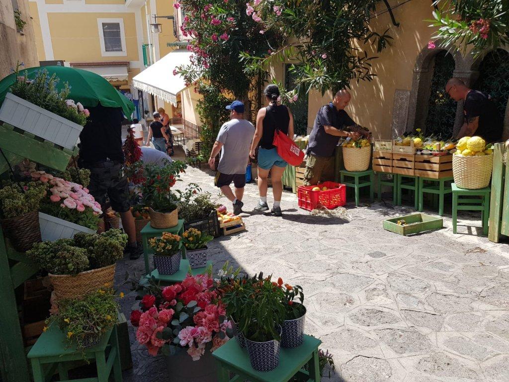 Préparatifs du tournage de Tenet à Ravello, Italie, le 30 juillet 2019