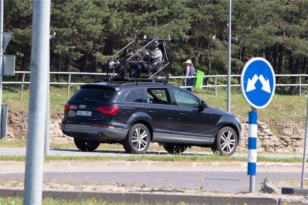 Pendant le tournage de Tenet sur Laagna tee, Estonie, le 24 juillet 2019