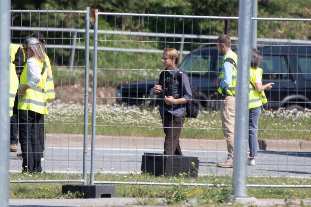 La doublure de Robert Pattinson pendant le tournage de Tenet sur Laagna tee, Estonie, le 24 juillet 2019