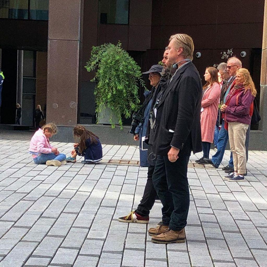 Christopher Nolan et Hoyte van Hoytema pendant le tournage de Tenet à Oslo, Norvège, le 5 août 2019