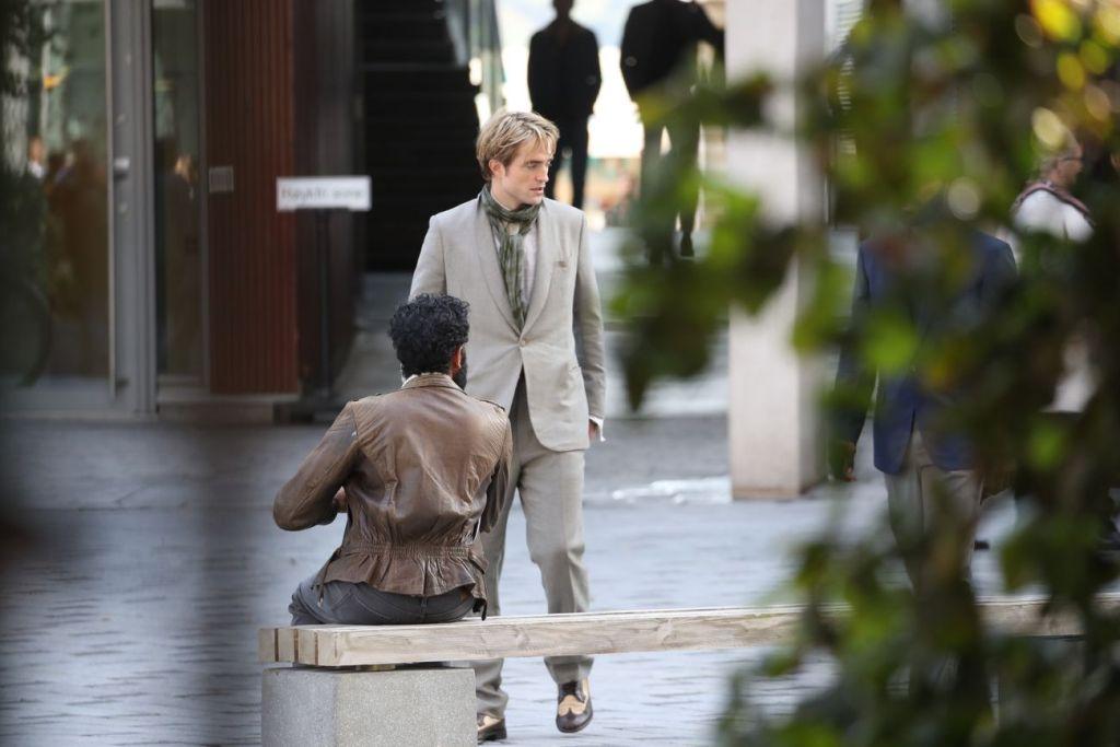 Robert Pattinson pendant le tournage de Tenet à Oslo, Norvège, le 5 septembre 2019