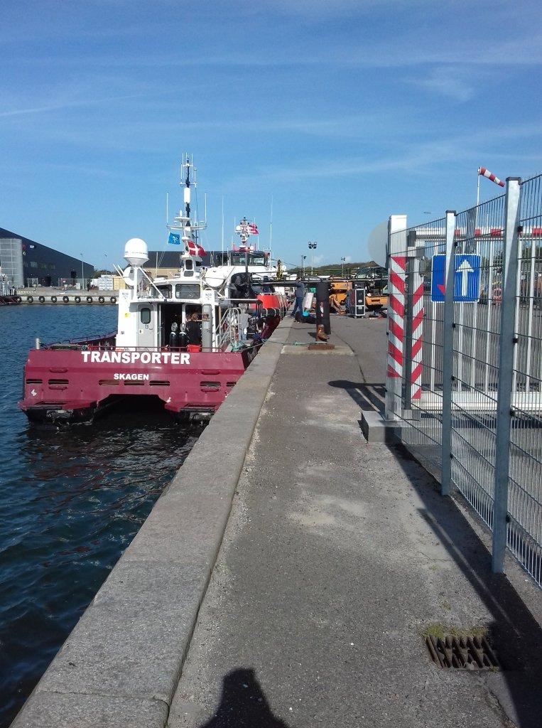 Pendant le tournage de Tenet à Rødbyhavn, Danemark, le 8 septembre 2019