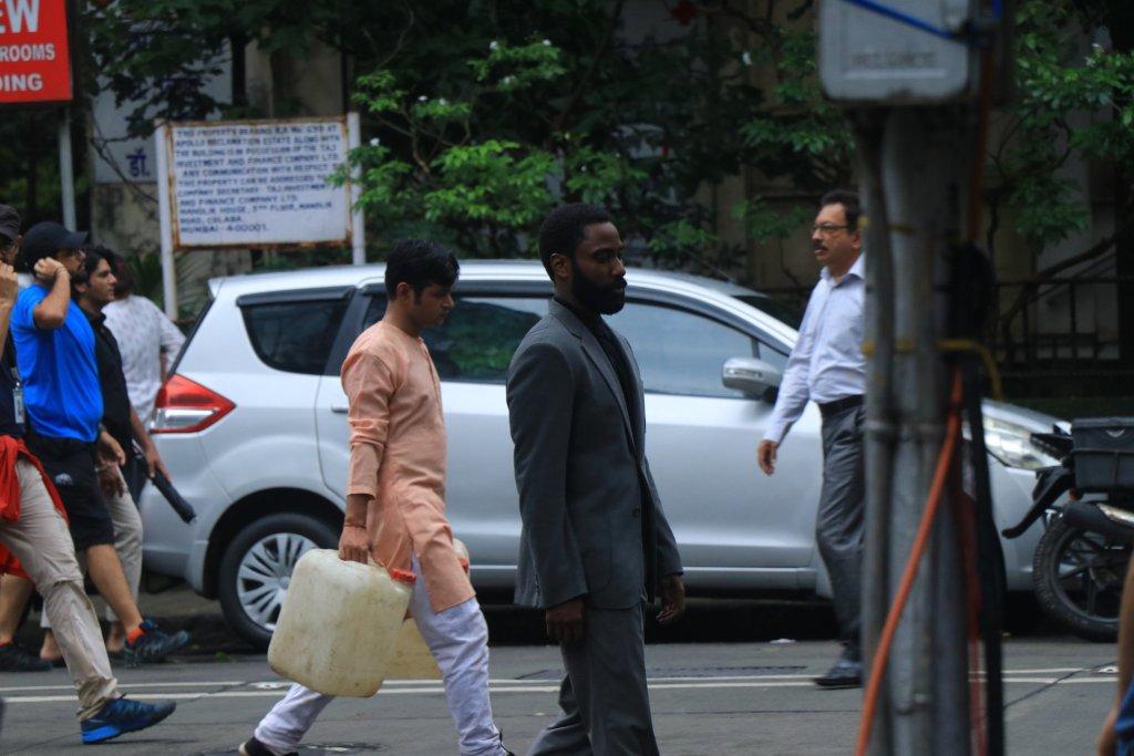 John David Washington pendant le tournage de Tenet à Mumbai, Inde, le 17 septembre 2019