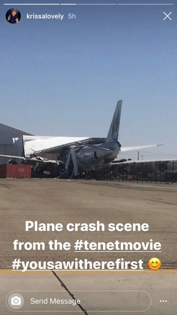 Crash d'un avion pour le tournage de Tenet à Los Angeles, en octobre 2019