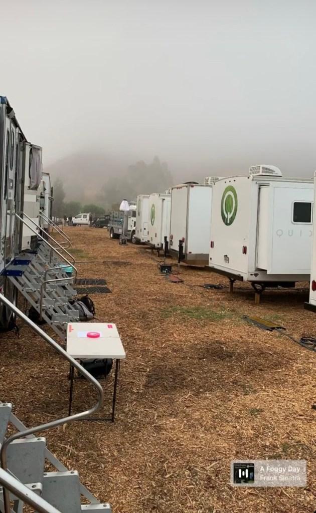 Sur le tournage de Tenet en Californie, en novembre 2019