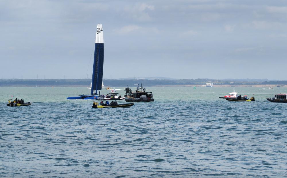 Pendant le tournage de Tenet au large de l'Île de Wight, au sud de Londres, en août 2019