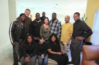"Christopher C. Odom, Cornelius Booker III, Clifton Powell with the cast of ""23rd Psalm: Redemption"""