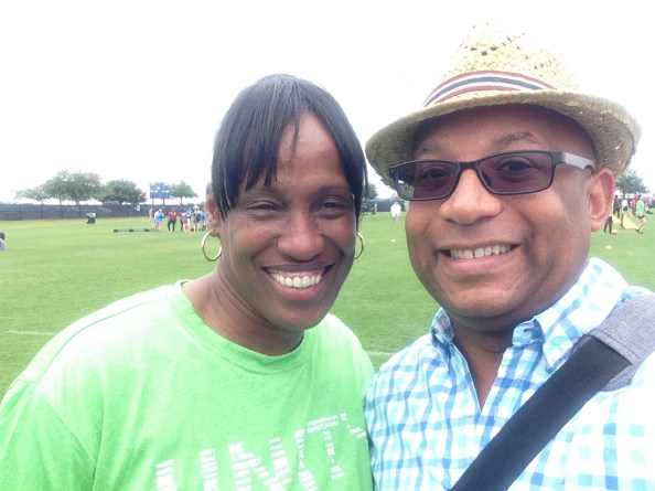 Jackie Joyner Kersey and Christopher C. Odom on location with the Associated Press at the Boys and Girls Clubs of America National Summit 2015