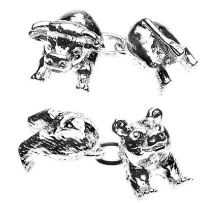 bull bear cufflinks