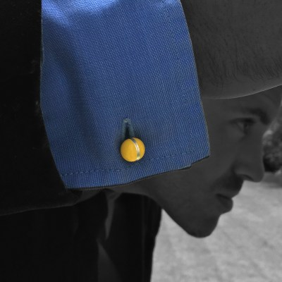 colour ball cufflinks yellow