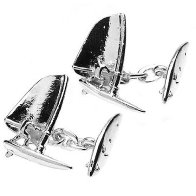 windsurfer cufflinks