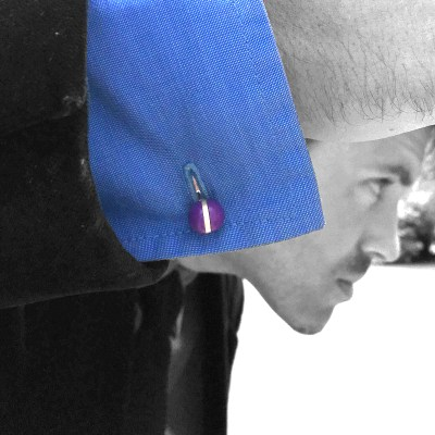 colour ball cufflinks purple