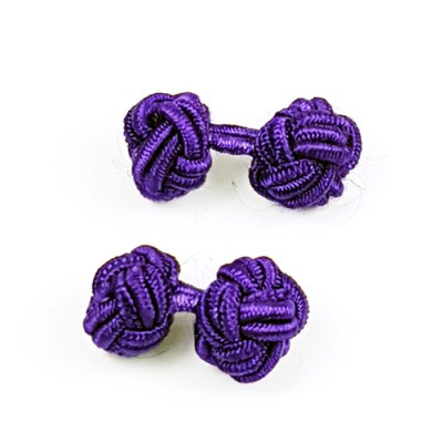 silk knot cufflinks purple