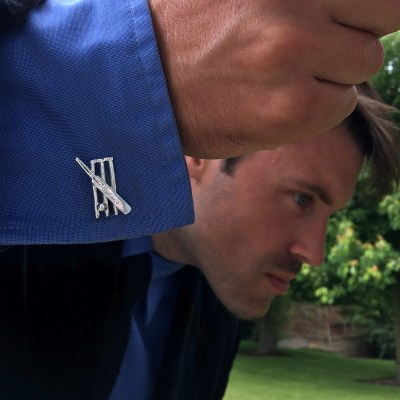 cricket bat cufflinks