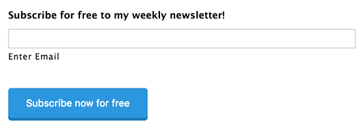 Windows Phone: subscribe to my newsletter right here