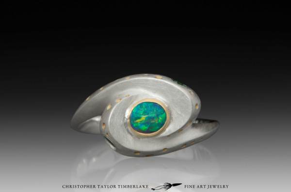 Hubble Spiral Galaxy Opal Ring - Christopher Taylor ...