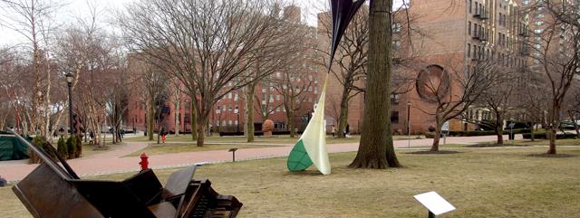 Pratt's sculpture garden