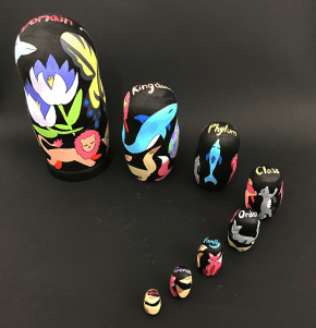Taxonomic Nesting Dolls © MJ Sullivan (Project Summary)