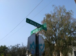 The intersection of North Williams Avenue and North Rosa Parks Way.