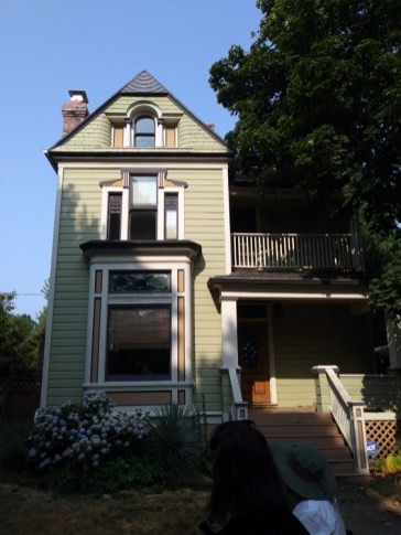 """A big factor in what happens to a neighborhood is its original architecture. At the north end of our North Williams Avenue transect walk, the old architecture presents new residents with the opportunity to refurbish a houses with """"good bones"""", creating homes like this one."""