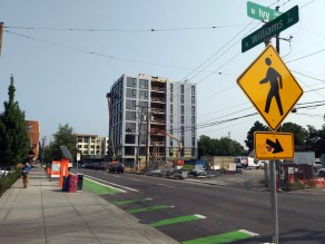 Towards the south end of our urban transect, the pace of development appeared to be quite rapid.
