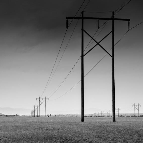 Power lines in Montana.