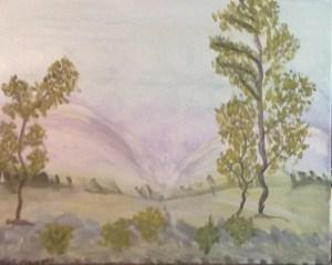 "Just the landscape ""Purple mountains majesty."""