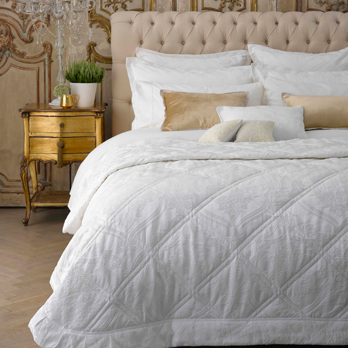Christy Rochester Bed Linen Warm White Christy