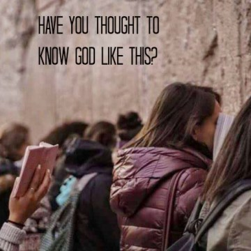 Have You Thought to Know God Like This? -christyfitzwater.com