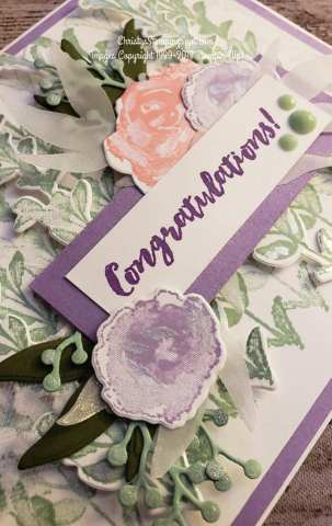 Frist Frost bundle Congratulations card close up