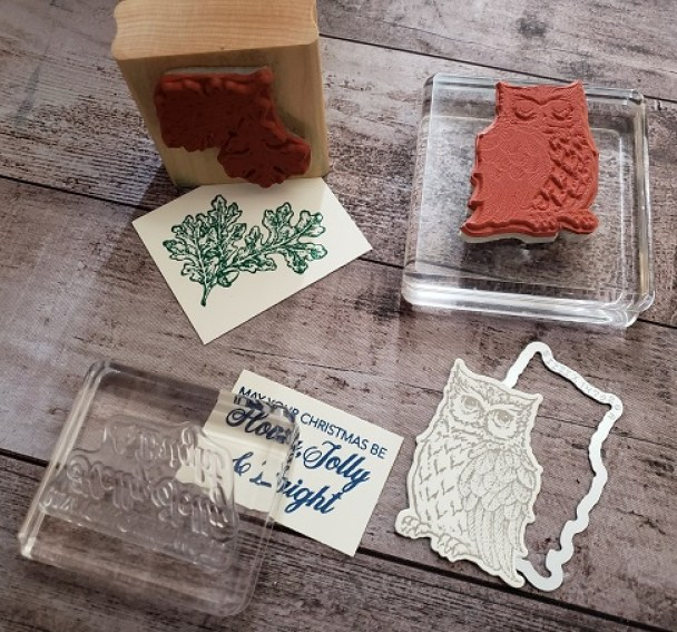 A quick view of the different Stampin' Up! stamp types picture.