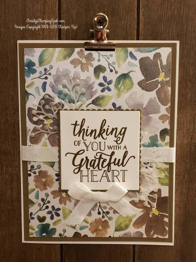 creative challenge Frosted Floral DSP Thanksgiving card