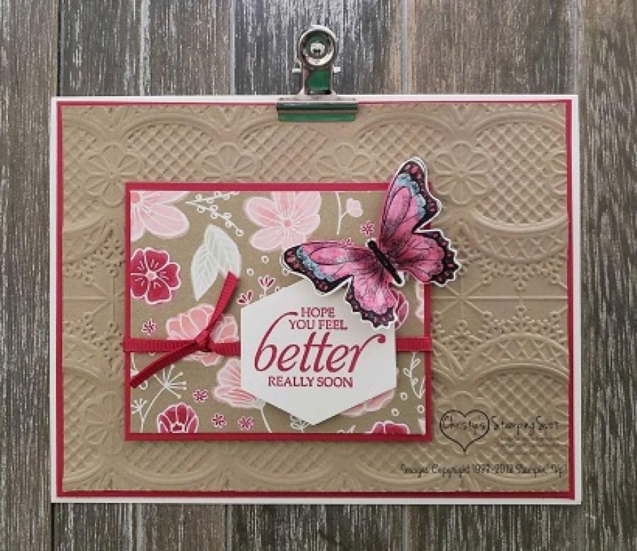 Feel Better Butterfly Lace card.