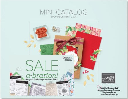 Link to email Christy's Stamping Spot to  get the Mini Catalog and Sale-A-Bration Brochure.