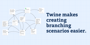 Twine makes creating branching scenarios easier.