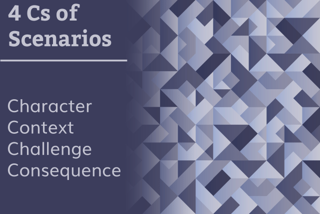 4 Cs of Scenarios  Character Context Challenge Consequence