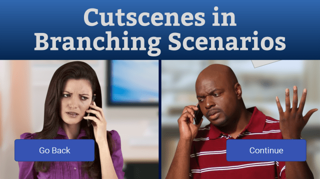 Cutscenes in branching scenarios