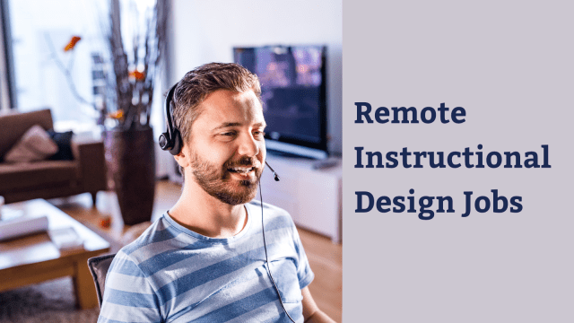 Remote instructional design jobs