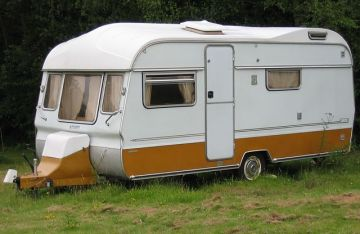 Not the caravan we lived in, but similar