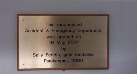 A modernisation sign