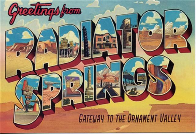 Radiator Springs Postcard