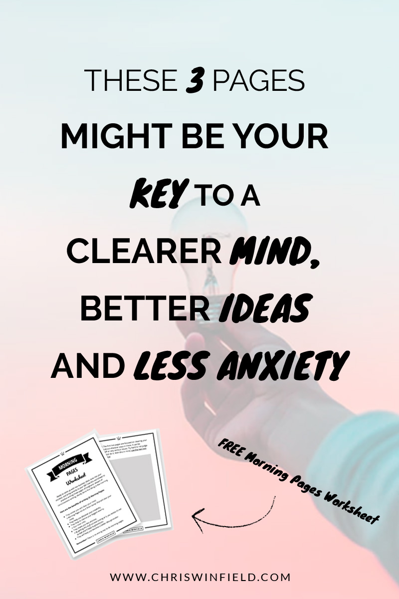 Morning Pages A Clearer Mind Better Ideas Amp Less Anxiety