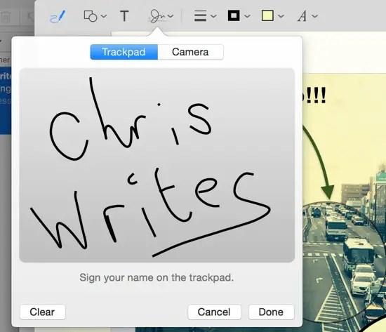 Created Signature Trackpad
