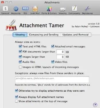 Attachment Tamer Prefernces