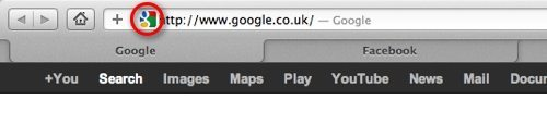 Favicon Example in Safari