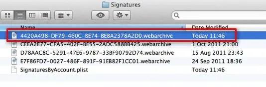 Signature Folder Screenshot